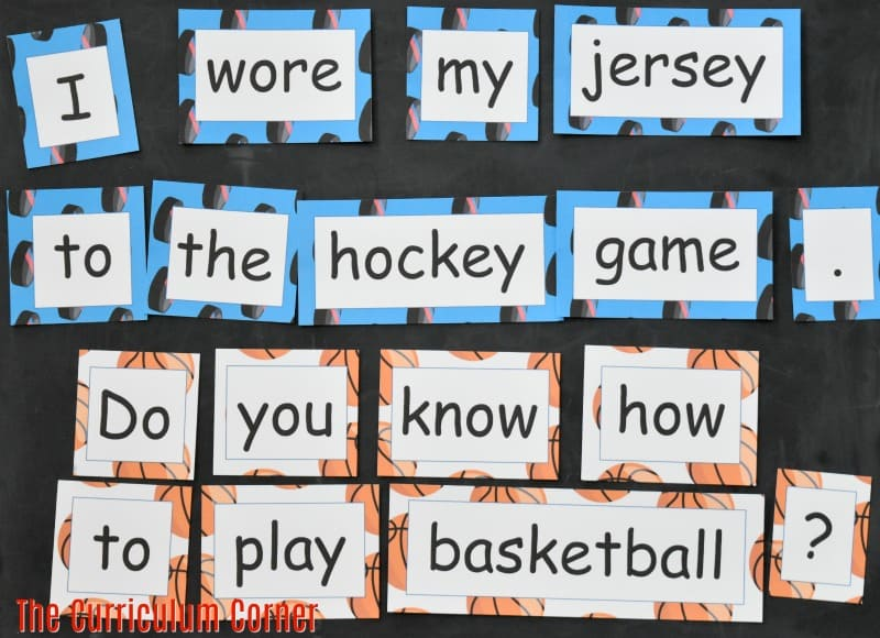 FREE Sports Literacy Pack from The Curriculum Corner   Word Work 3