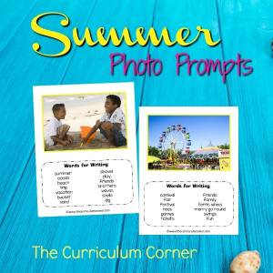 FREE Summer Photo Prompts from The Curriculum Corner