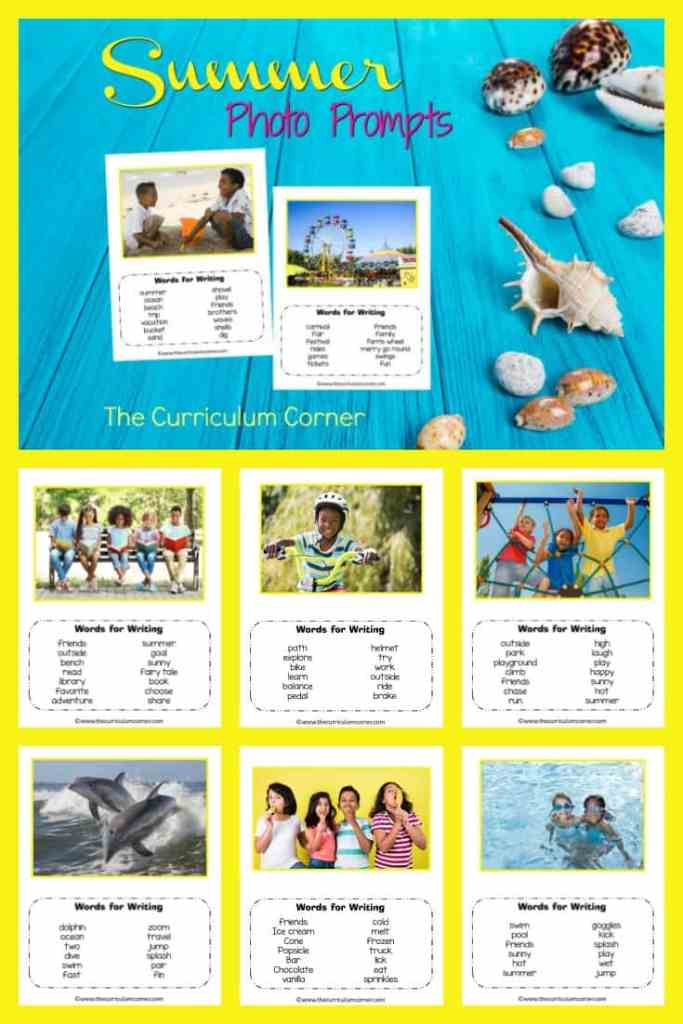 FREE Summer Photo Prompts from The Curriculum Corner 2