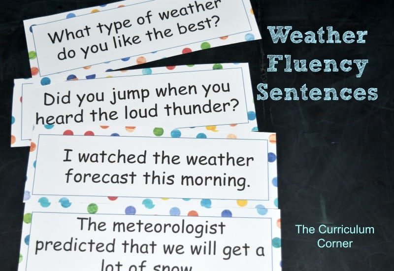 FREE Weather Word Work from The Curriculum Corner 2