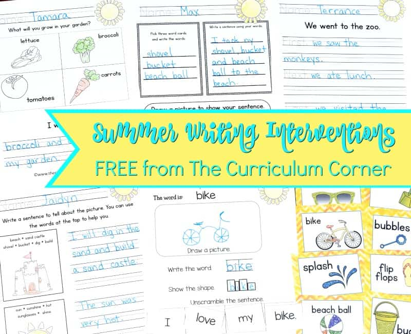 These summer writing interventions are designed to help you with those students that require a little prompting during writing.