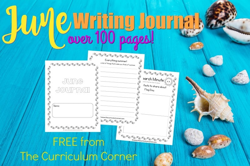 This June writing journal is designed for your primary classroom. Use the pages to create journals or individually for June writing prompts.