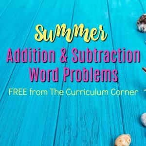 Summer Addition and Subtraction Word Problems 2