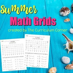 FREE Summer Math Grids