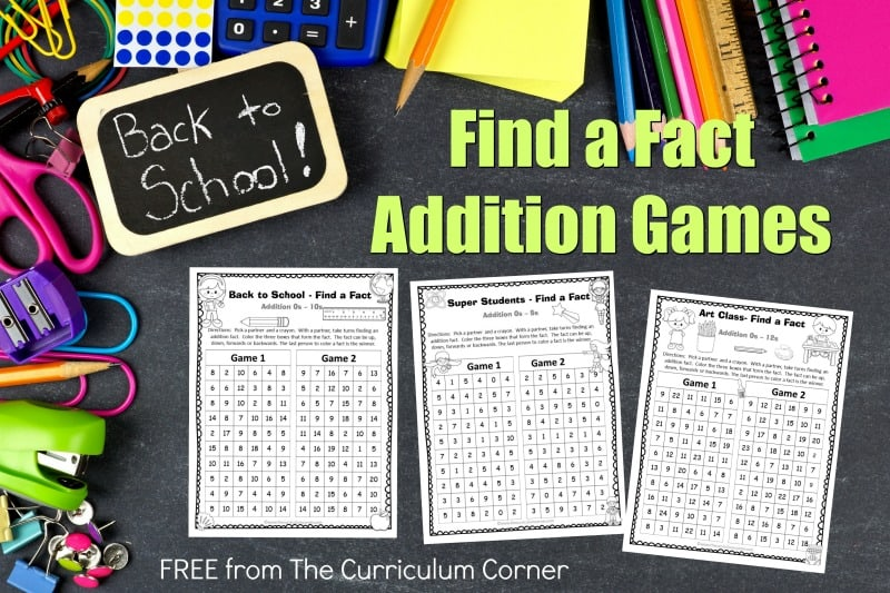 These back to school addition fact practice games are designed to offer basic fact practice in a fun and engaging format!