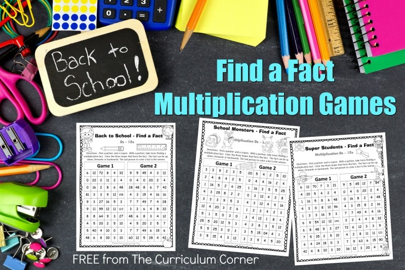 These back to school multiplication games are designed to offer multiplication fact practice in a fun and engaging format!