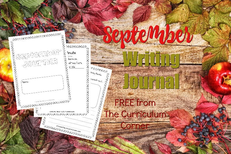 This September writing journal is designed for your primary classroom. Use the pages to create journals or individually for September writing prompts.