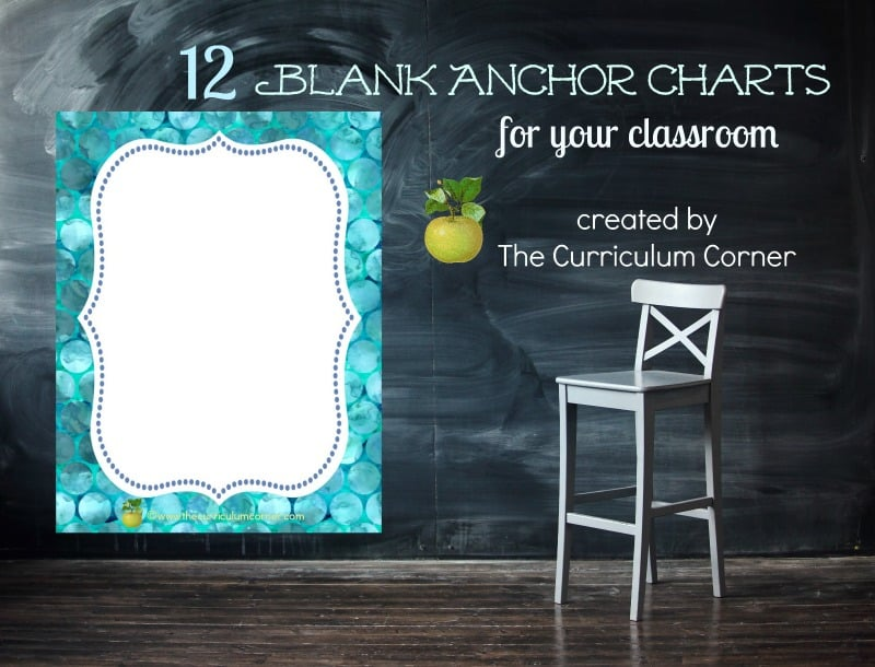 We've created a new set of blank and colorful. anchor charts that can be used across subjects in your classroom.
