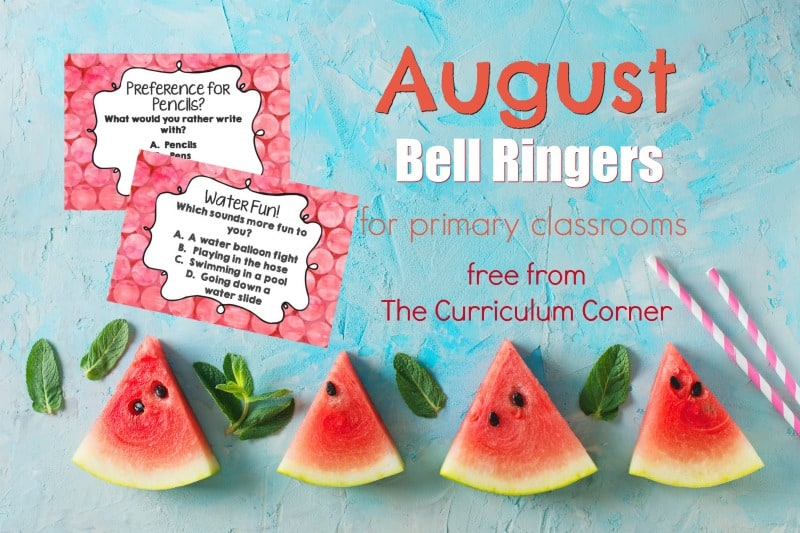 This collection of August Bell Ringer Questions has been created to help engage your students in a simple, but meaningful morning routine.