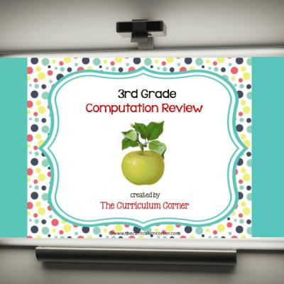 Review Game: 3rd Grade Computation