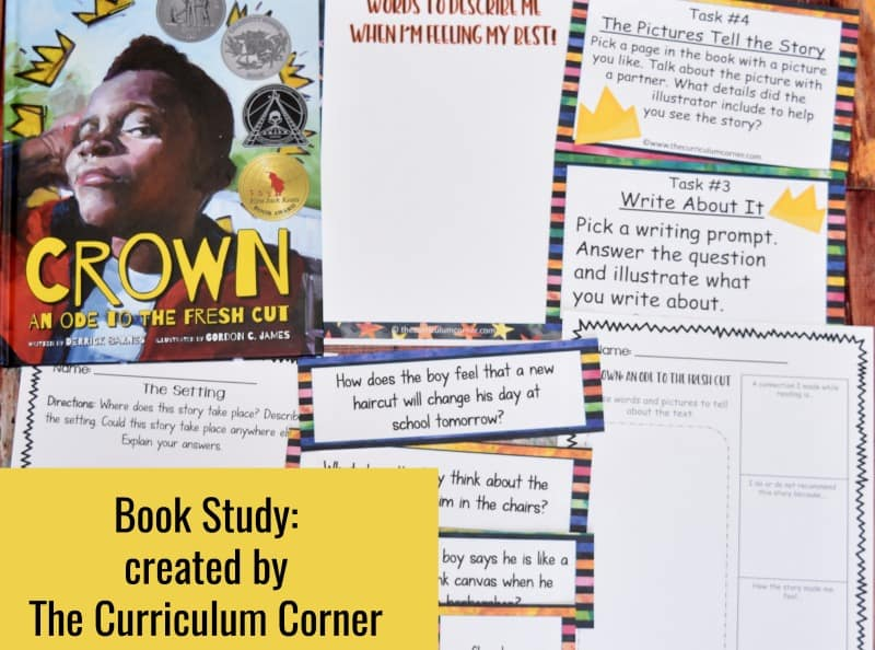 Crown: An Ode to the Fresh CutBook Study - A free literacy center set created by The Curriculum Corner