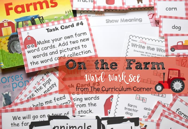 This farm word work set is the perfect set of On the Farm word work for your fall!