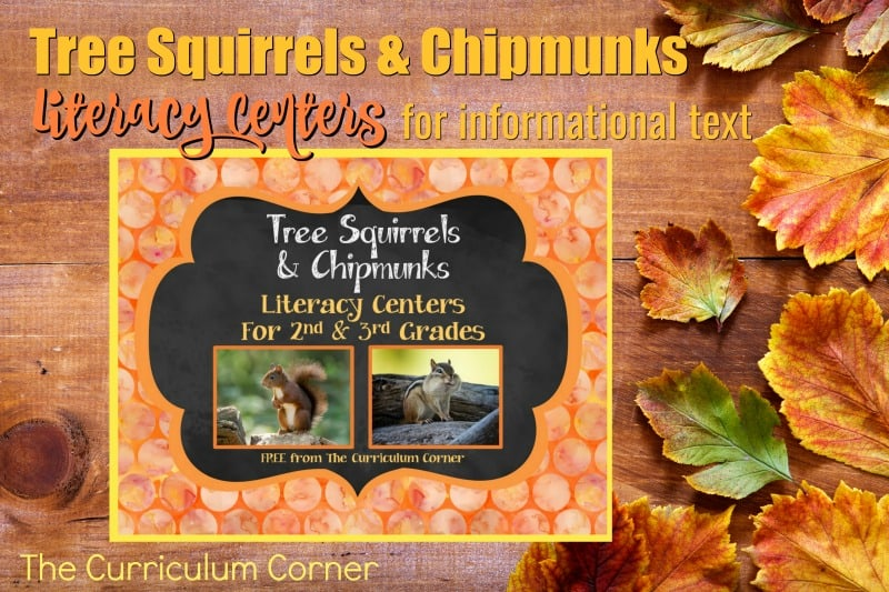 This fall informational text pack focuses on tree squirrels and chipmunks. These literacy centers are designed to help your children work with informational text during their center time.