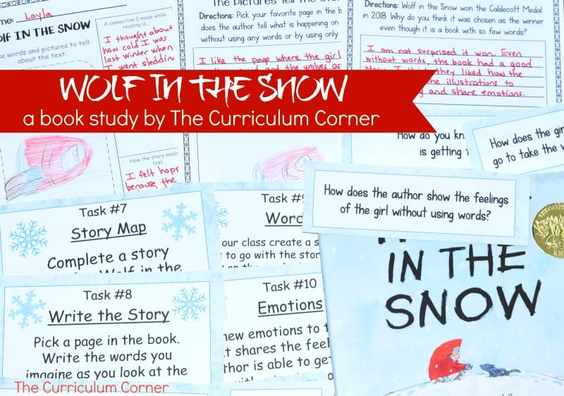 Wolf in the Snow Book Study - A free literacy center set created by The Curriculum Corner