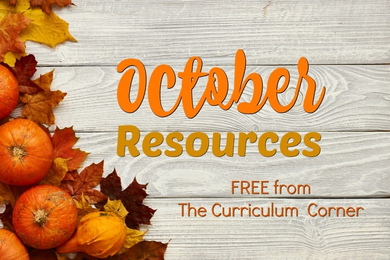 These free October resources will help you prep for a smooth October. FREE classroom resources for teachers from The Curriculum Corner.