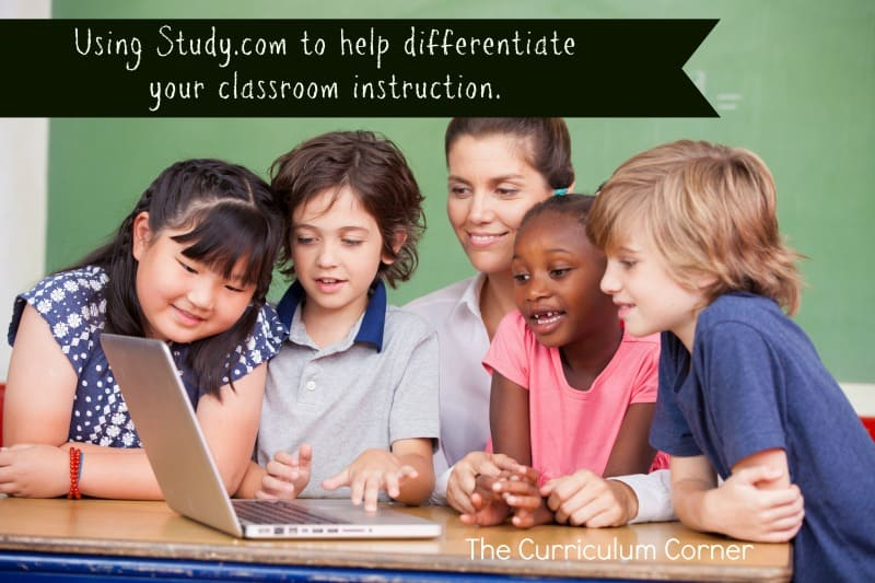 We've partnered with Study.com to bring you this set of resources meant to help you differentiate your students' addition with regrouping practice during centers - plus, learn how Study.com can make differentiating in the classroom easier!