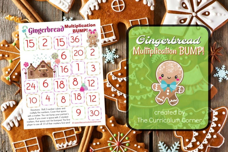 This set of free Gingerbread Multiplication BUMP! Games have been created to help your students work on mastering their multiplication facts.