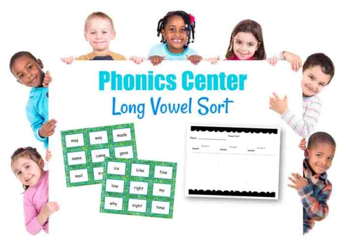 This long vowel sort activity can be a great to use as a center for your beginning readers who need practice with vowel sounds.