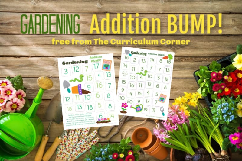 Gardening Addition BUMP! This set of free Gardening Addition BUMP! Games have been created to help your students work on mastering their addition facts this spring.
