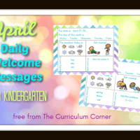 Kindergarten April Daily Welcome Messages