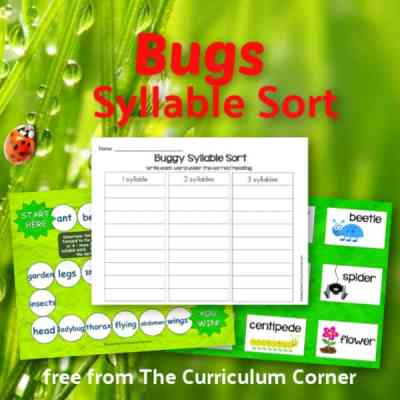 Bugs Syllable Sort