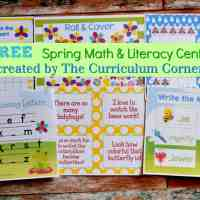 FREE Spring Math & Literacy Centers