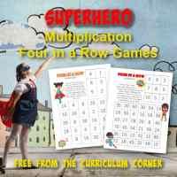 Superhero Multiplication Four in a Row