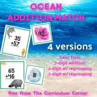 Ocean Addition Match (w/ & w/out regrouping)