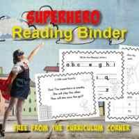 Superhero Reading Binder