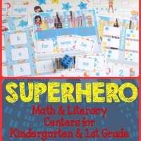 Superhero Math & Literacy Centers