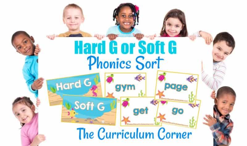 Phonics Sort Hard G or Soft G