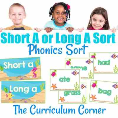 Phonics Sort: Long A & Short A