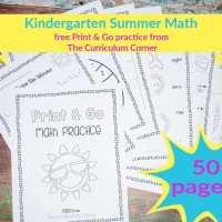 Kindergarten Summer Math Practice