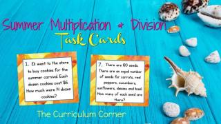 Summer Word Problems for Multiplication & Division