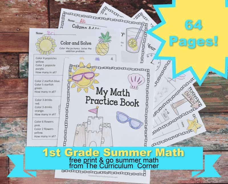 1st grade summer math
