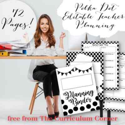 Polka Dot Teacher Planning Binder
