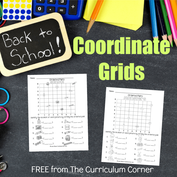 Back to School Coordinate Grids