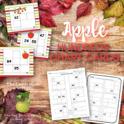 Apple Hundred Chart Puzzles
