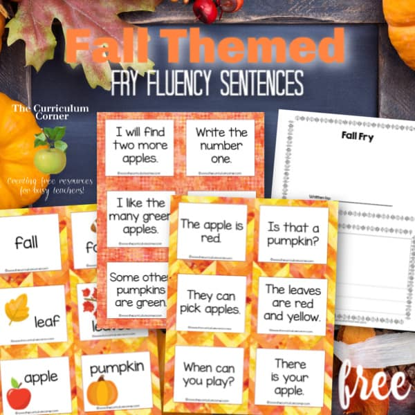 Fall Fry Fluency Sentences