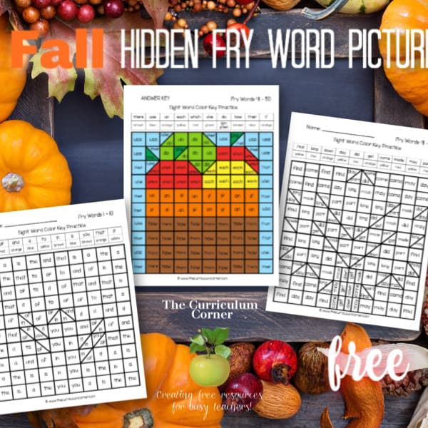 Fall Fry Hidden Pictures