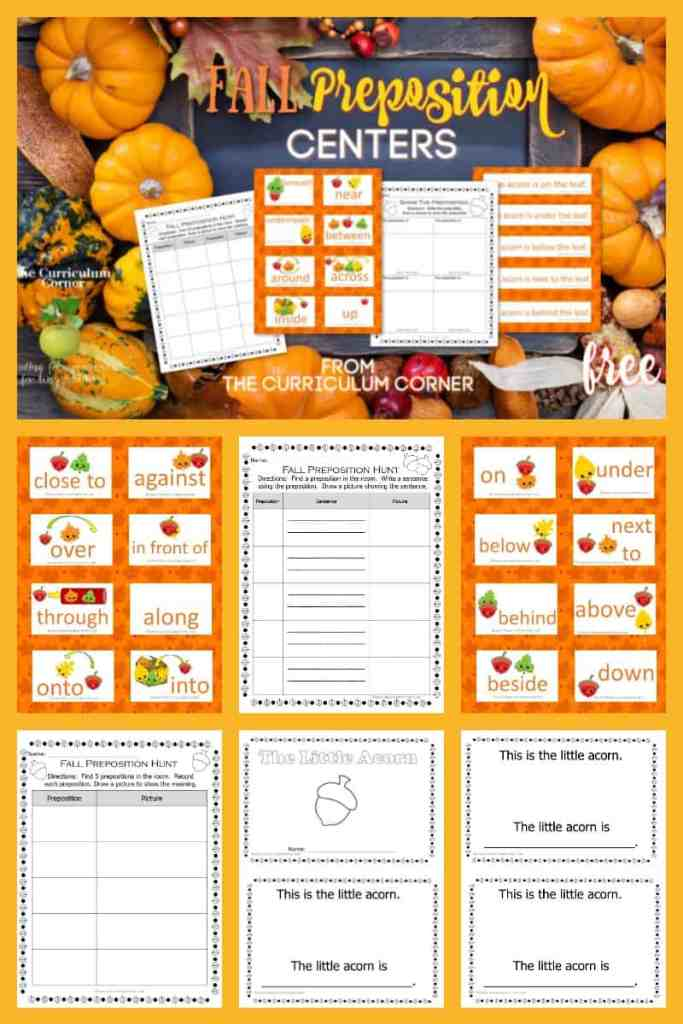 Fall Preposition Practice