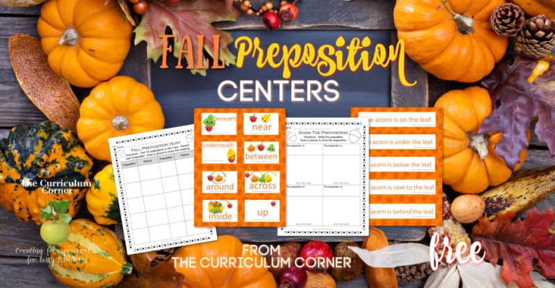 Fall Preposition Practice Centers