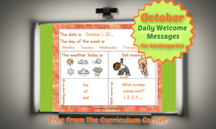 Daily Welcome Messages for Kindergarten