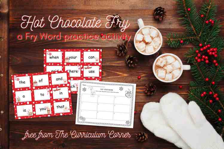 Hot Chocolate Fry Words