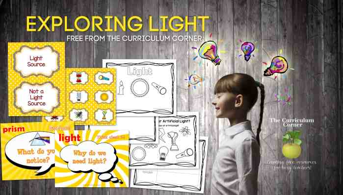 Exploring Light Lessons
