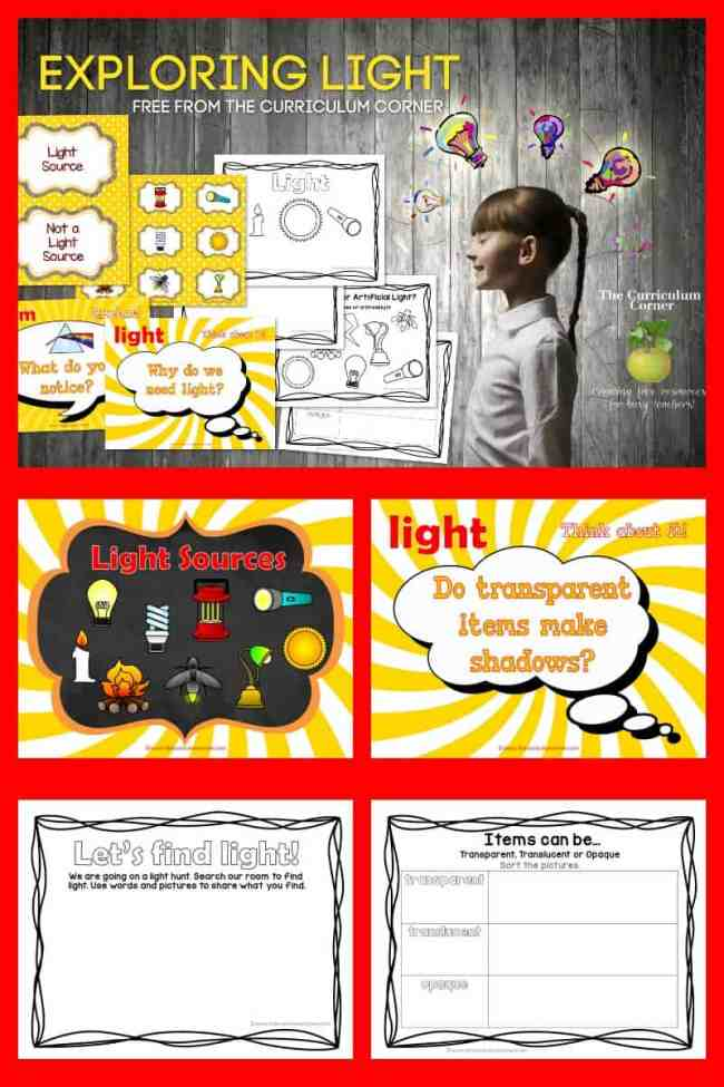 Exploring Light Lessons