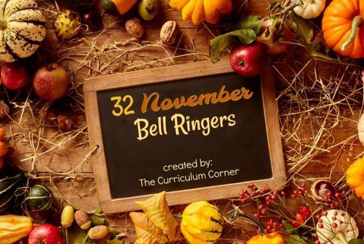 November Bell Ringers for Intermediate Students