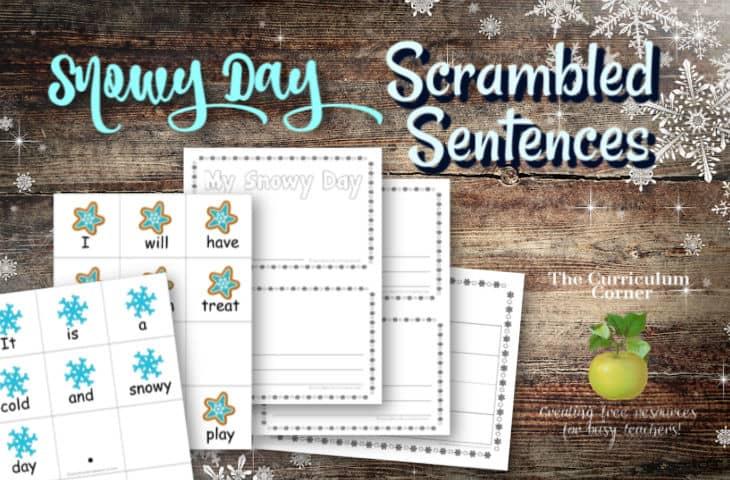Snowy Day Scrambled Sentences