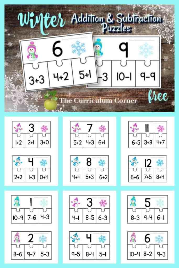 winter math fact practice
