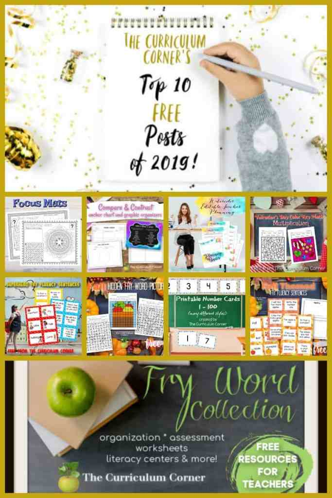 Welcome to The Curriculum Corner's Top 10 Posts of 2019!